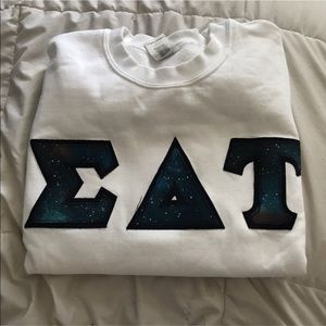 Sweaters - lettered crew neck